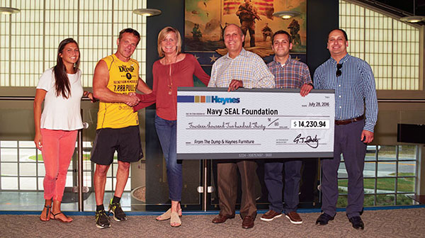 Haynes Donation - Navy Seal Foundation