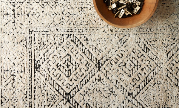 Neutral Rug with Patterns