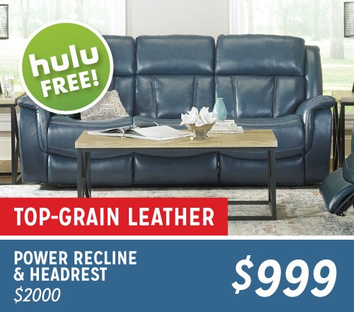 Power Recline & Headrest $999