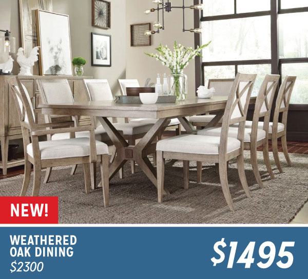 Weathered Oak Dining $1495