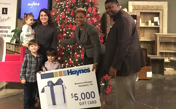 Haynes Winner of $5,000