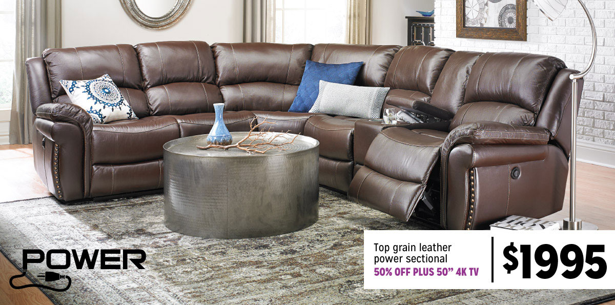Leather Sectional $1995