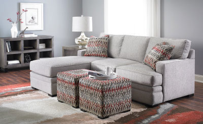 Neptune Track Arm Sofa with Reversible Chaise