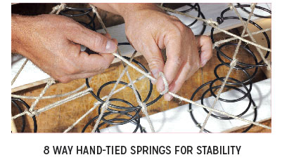 8 Way Hand-Tied Springs for Stability