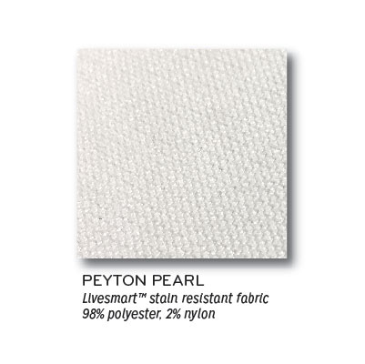 Peyton Pearl Livesmart Stain Resistant Fabric 98% Polyester, 2% Nylon