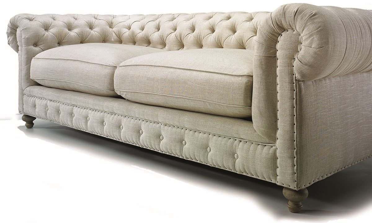 White chesterfield chair -  Picture Of Francis Drake Chesterfield White Sofa