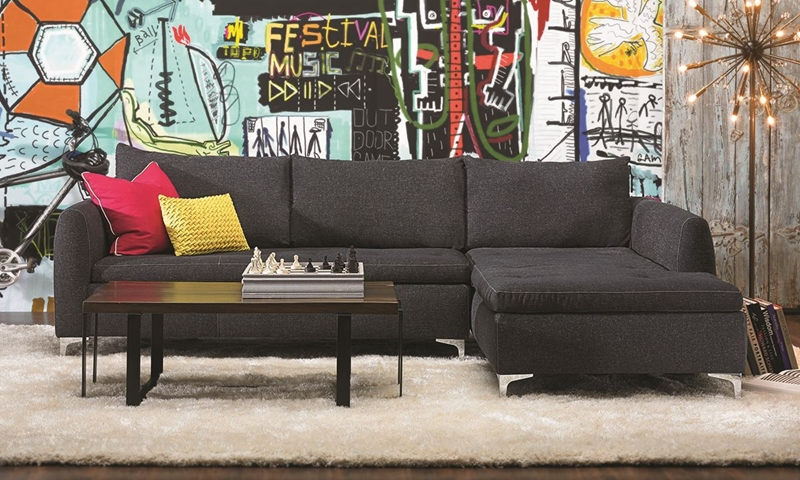 Haynes furniture camden chaise sectional sofa - Cheap living room sets in houston tx ...