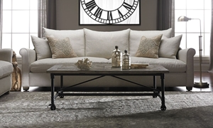 Picture of Leo 104-Inch Linen Blend Belgian Roll Arm Sofa