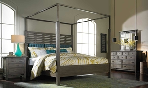 Picture of SoHo Loft Queen Canopy Bed