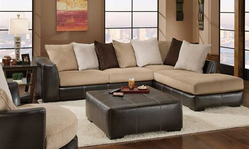 Picture of Donna Mocha Sectional Sofa