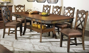 Picture of Savannah Antique Walnut & Slate 5-Piece Dining Set
