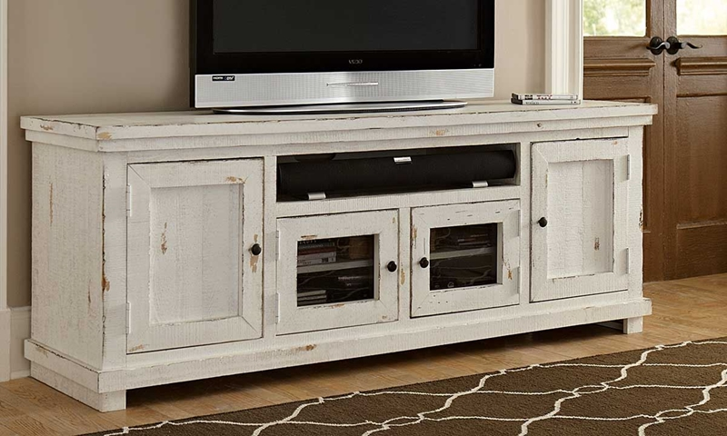 """Picture of White Willow Media Console 74"""""""