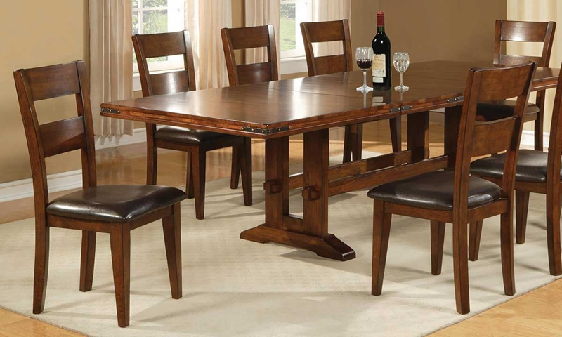 Iron Strap Solid Mango Dining Set