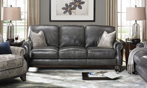 Picture of Paisley Grey Leather Sofa