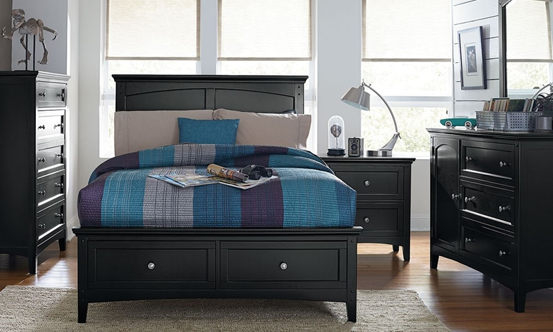 Picture of Cooperstown Black Twin Bedroom