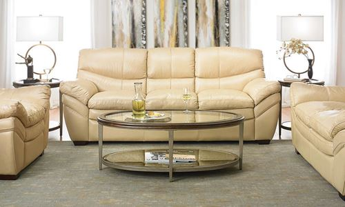 Picture of Calvert Sand Leather Sofa