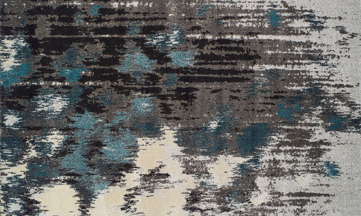 Haynes Furniture Modern Greys Collection Area Rugs Teal