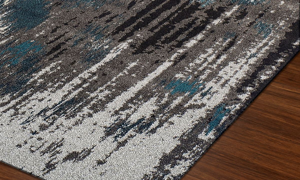 ... Picture of Modern Greys Collection: Teal 5x8 Rug ... - Modern Greys Collection Area Rugs: Teal Haynes Furniture
