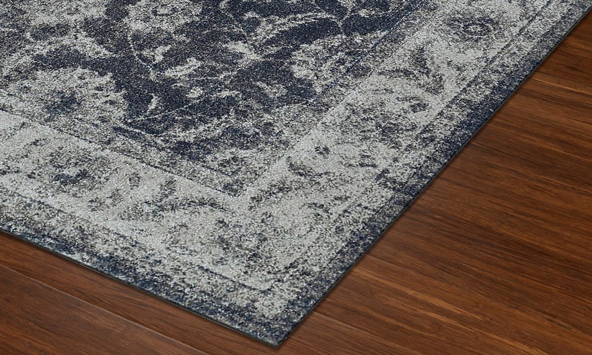 Geneva Collection Steel Blue 5x8 Rug Haynes Furniture