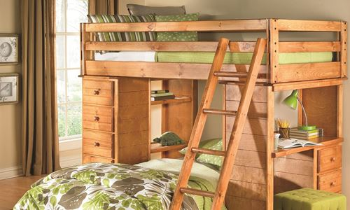 Picture of Trentwood Study Loft Bunk Bed (Twin)