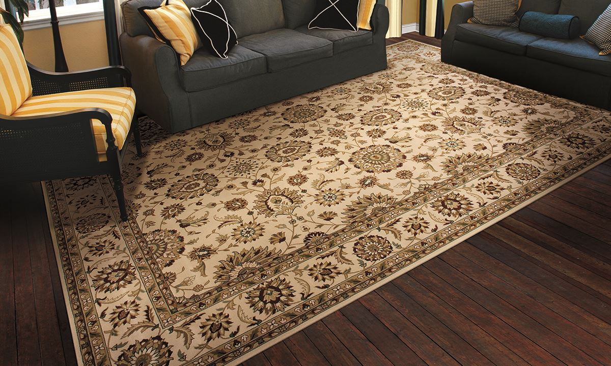 ... Picture Of Persian Crown Ivory 2x3 Rug