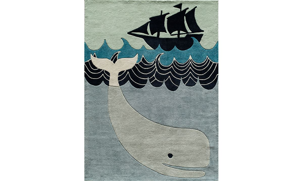 Haynes Furniture Lil Mo Collection Whale Area Rug