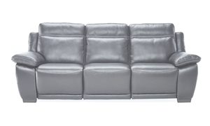 Picture of Natuzzi 93-Inch Top-Grain Power Reclining Sofa