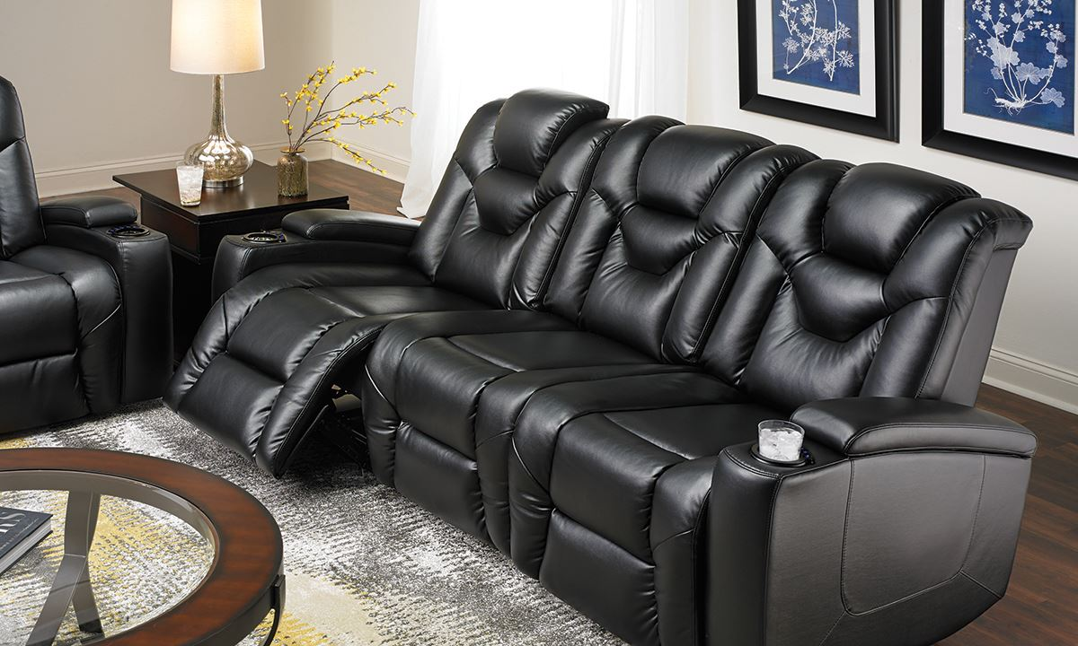 Power Reclining Sofa With Cup Holders Refil Sofa