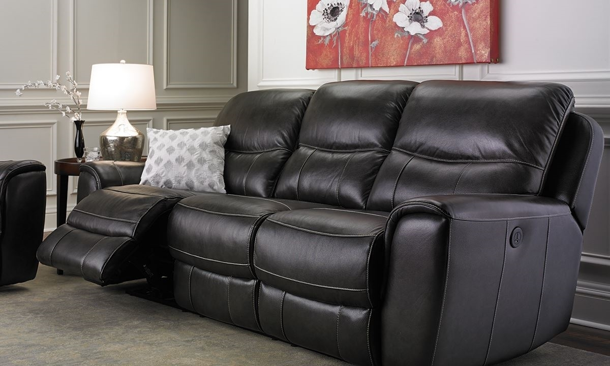 Beau Picture Of Era Nouveau 91 Inch Top Grain Power Reclining Sofa