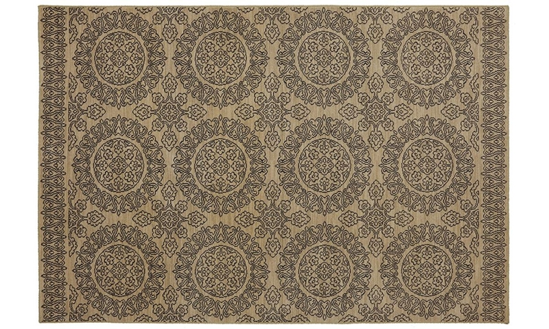 Picture of Karastan Pacifica Collection Leawood Tan 5x8 Rug