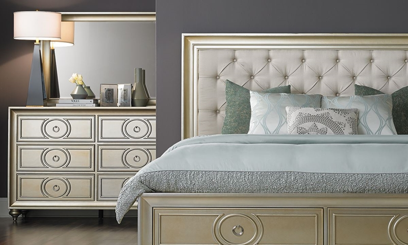 Picture of Margeaux Vintage Glam Queen Storage Bedroom