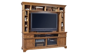 "Picture of Adler Creek Media Console and Hutch (84"")"