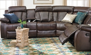 Picture of Atticus Leather Gel Sectional Sofa
