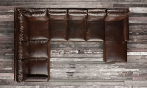 Picture of Mayfair Deluxe Brompton Leather Sectional Sofa