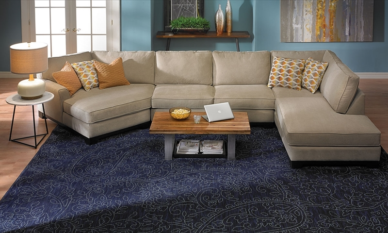 living room with chaise haynes furniture sagittarius cuddler chaise sectional 15177