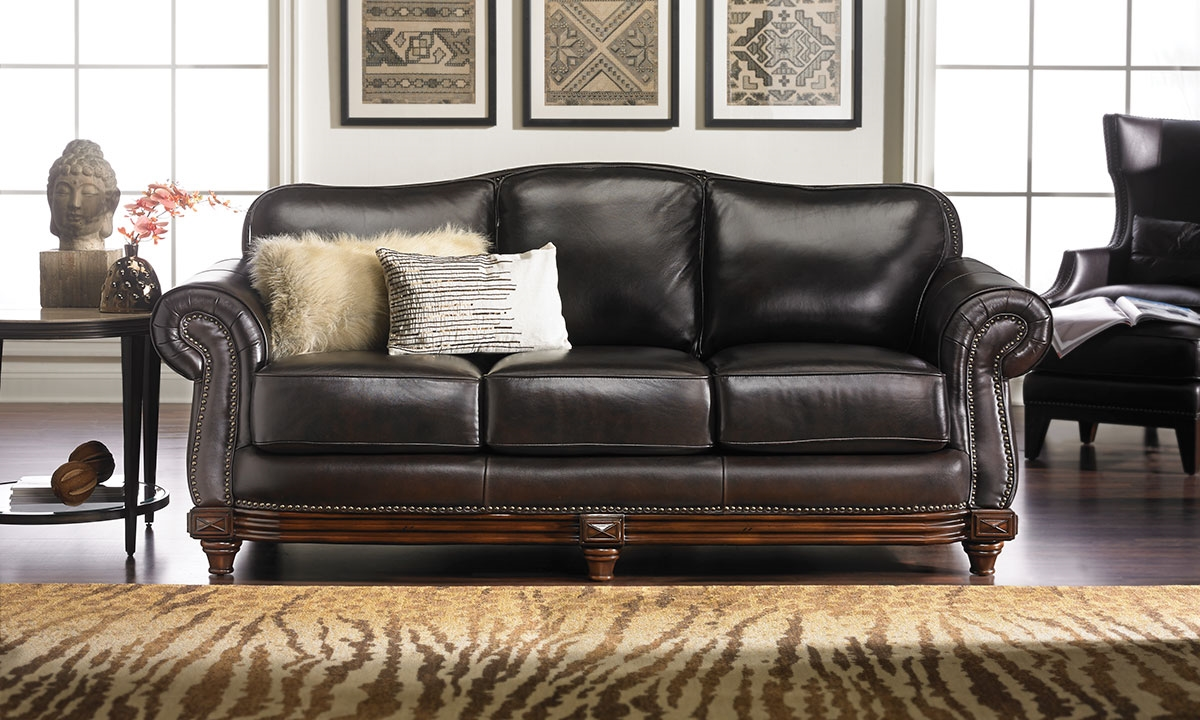 Hermitage Top Grain Leather U0026 Down Sofa