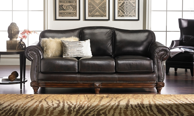 Picture of Hermitage Top-Grain Leather & Down Sofa