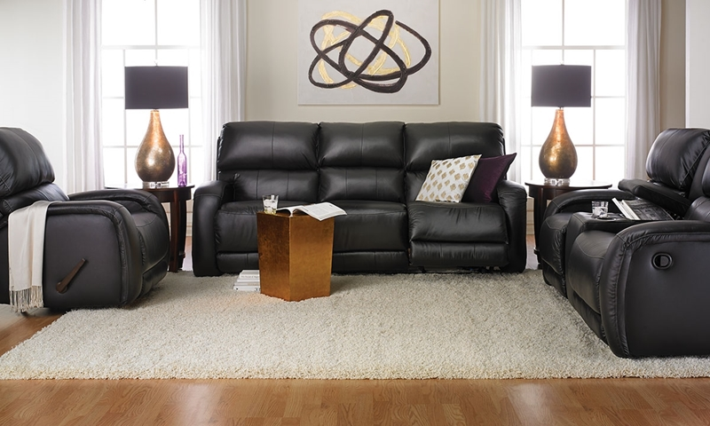 Picture of Milano Top-Grain Leather Reclining Sofa