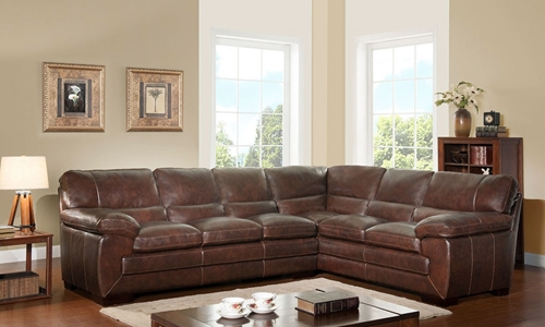 Picture of Cloud 9 Leather Sectional Sofa