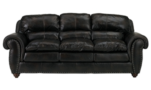 Picture of Amherst Traditional Leather Sofa
