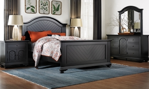Picture of Brookside Black Queen Panel Bed