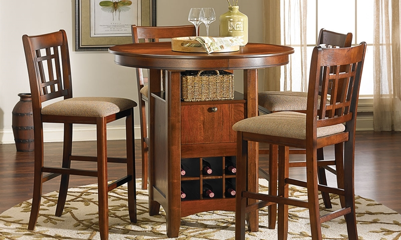 Picture of Mission Oak Bar/Pub Height Dining Set