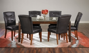 Picture of 7-piece Granite & Cherry Dining Set
