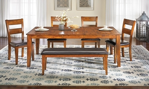 Picture of 5-Piece Light Mango Dining Set