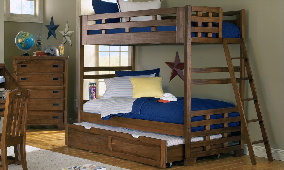 Picture Of Heartland Solid Wood Twin Bunk Bed