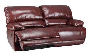 Picture of Rigley Dual Reclining 89-Inch Burgundy Leather Sofa