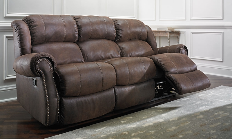 Picture of Dixie Dual Reclining Sofa with Nail Head Trim
