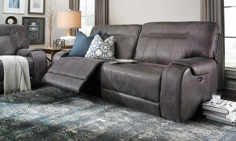 Picture of Pasadena Power Reclining Top-Grain Leather Sofa with USB