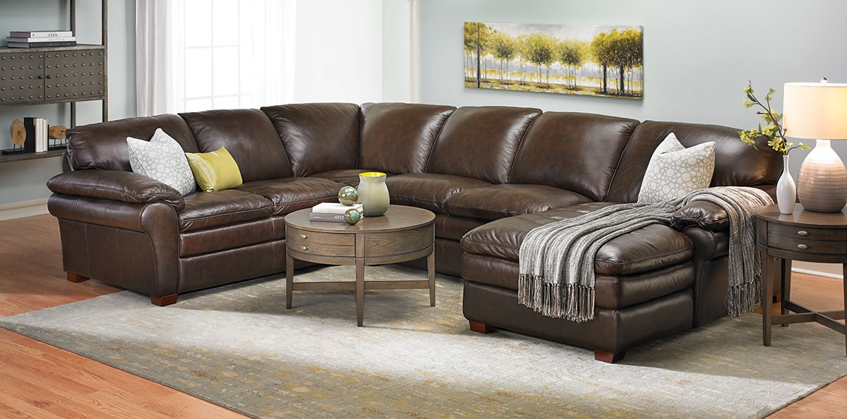 Winfield Leather Sectional Sofa Haynes Furniture