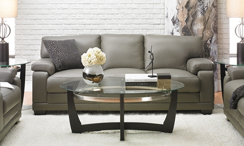Picture of Carlisle Grey 100% Leather Sofa
